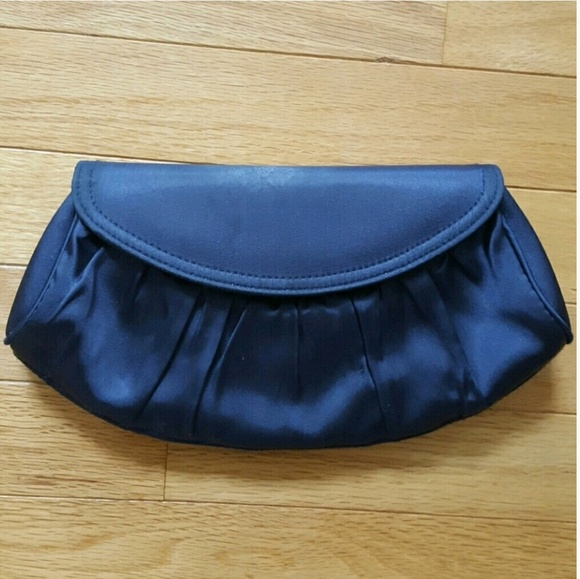 ea5f788b0c63 La Regale Bags Sale Navy Blue Satiny Clutch Purse Poshmark